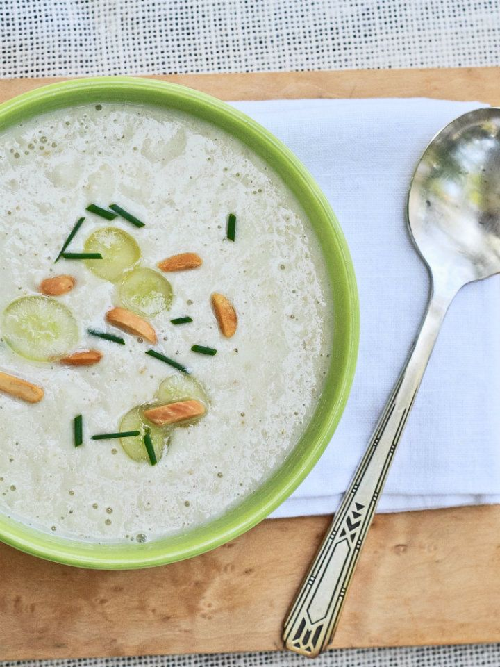 White Gazpacho with Grapes and Almonds - a traditional variation on ...