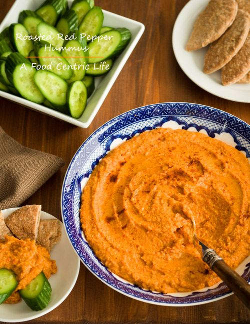 roasted red pepper hummus | Apps and snacks | Pinterest