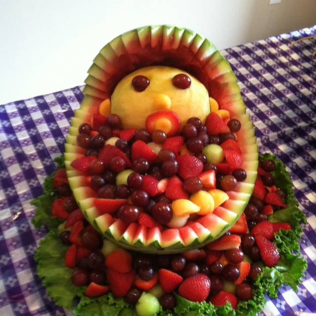 baby shower fruit bowl for the home pinterest