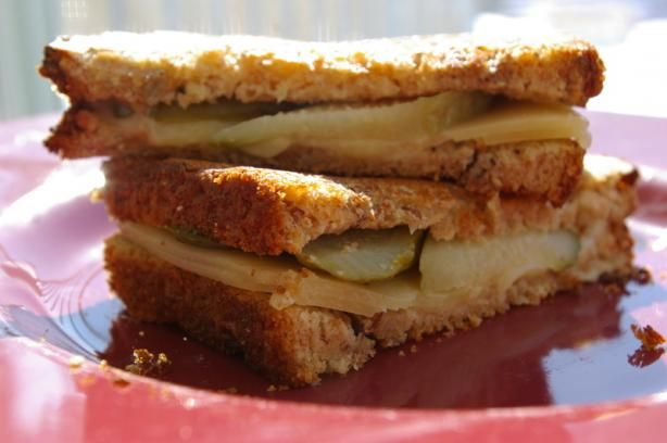 Grilled Cheese, Pickle and Vidalia Onion Sandwich Add Maple Ham, use ...