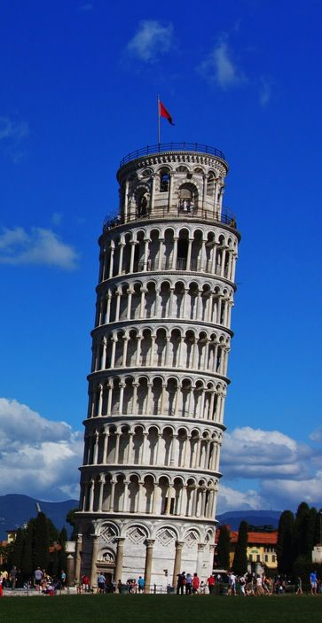 A must while you're in Italy: the leaning tower of Pisa.