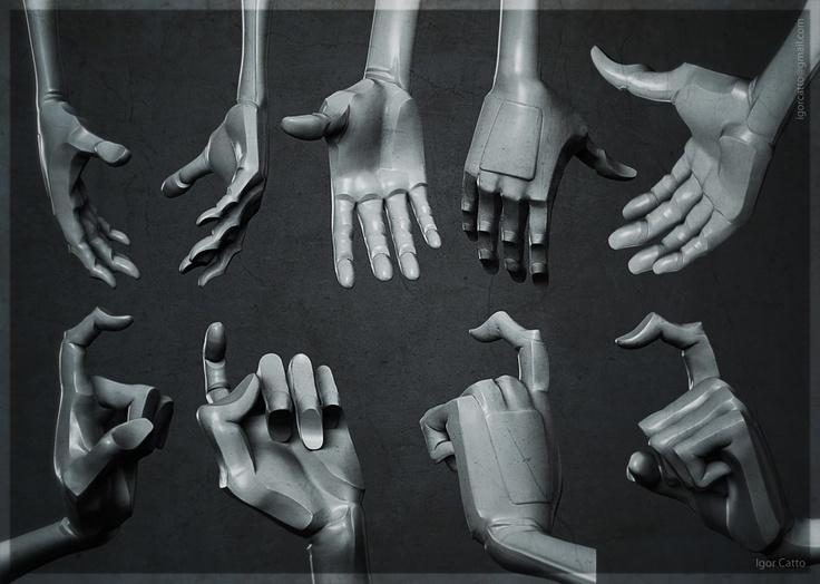 dibujar las manos en poses 3d