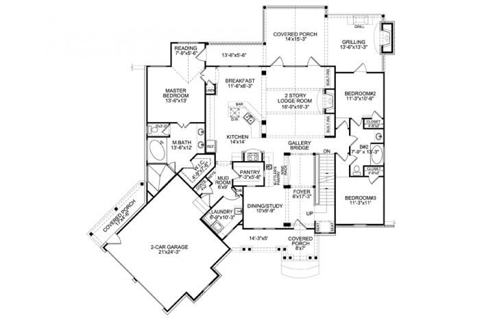 Nantahala bungalow 1st floor floor plan home sweet home Nantahala house plan