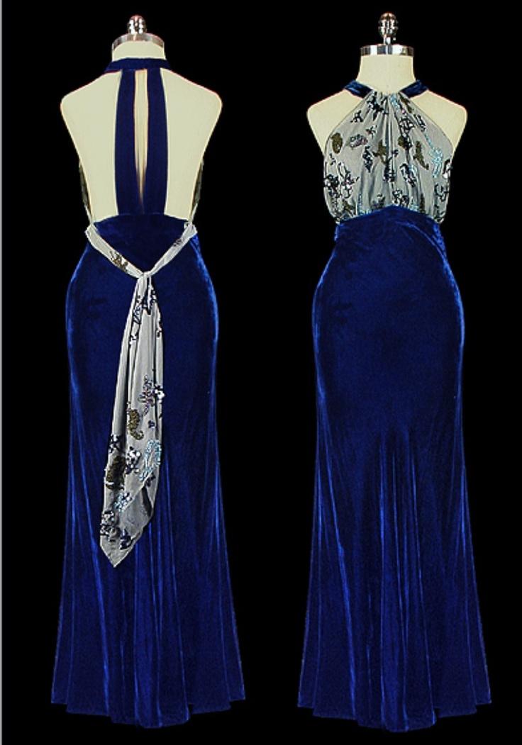 Vintage 1940s Evening Wear Dresses