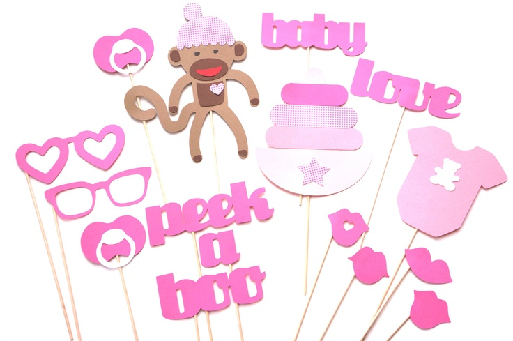 baby shower props baby girl photo props photo booth props pink