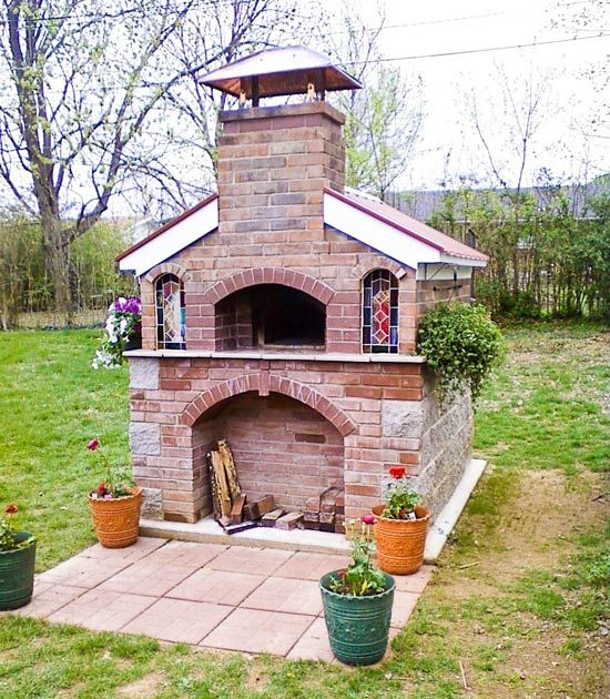 Outdoor Brick Oven Wood Fired Ovens Pinterest