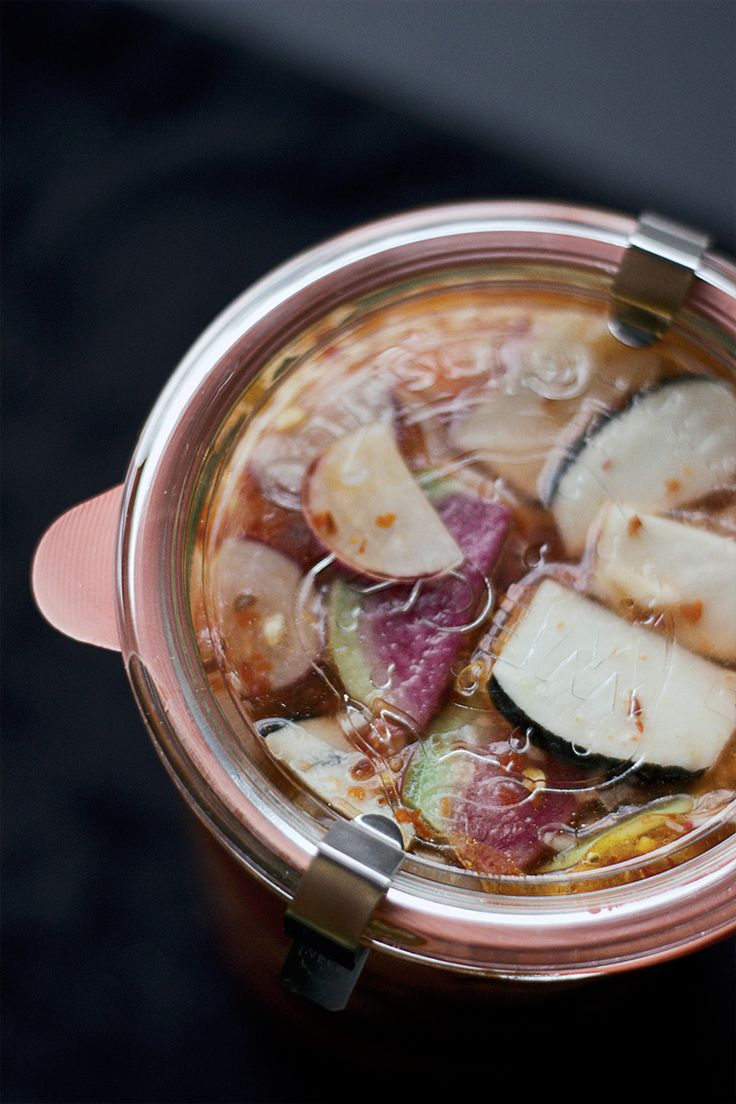 Quick Kimchi Pickled Radishes | veggies and side dishes | Pinterest