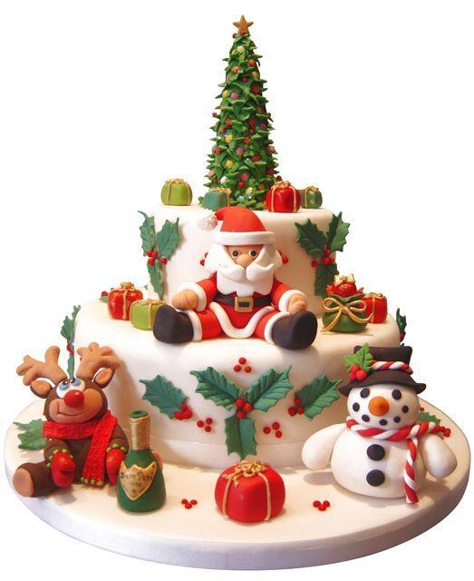 Cute Christmas Cake Images : Cute Christmas cake idea Cute cake Ideas Pinterest