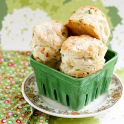 Soft and Fluffy Biscuits, filled with Cheddar Cheese and Green Onions