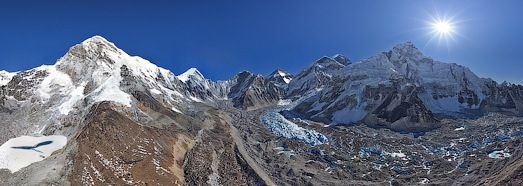 The hi res 360 176 panorama here http www airpano ru files everest