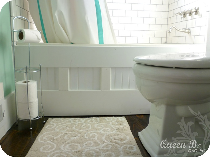DIY Bathtub Face {Makeover} Step by step how to gussy up the front of your tub!