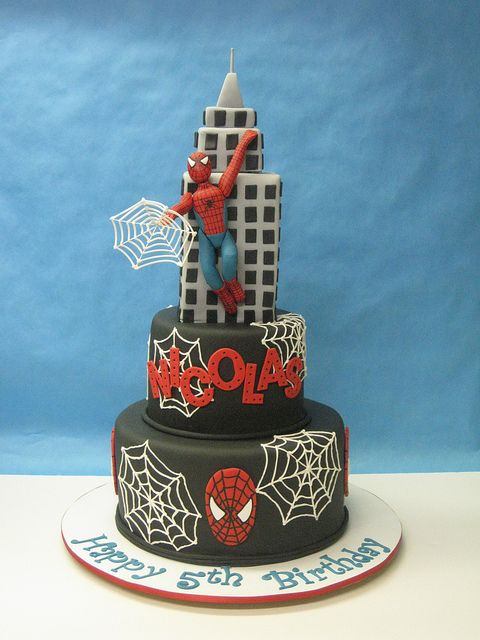 Spiderman Cake--need to make or have made for Isaiah..