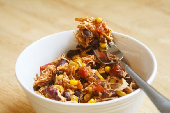 Crockpot chicken taco chili | Feed Me! | Pinterest