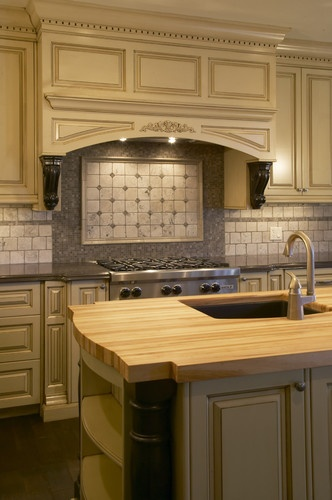 Tan Cabinets Kitchens Pinterest