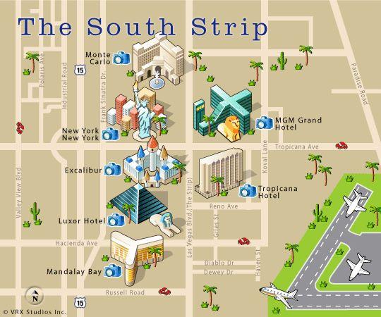 Map Of Las Vegas Strip Google Search  E5 A0 B4 E6 99 Af E9 A2 A8 E6 A0 Bc Pinterest