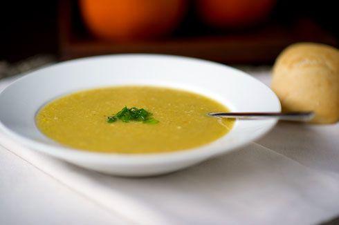 Roasted Acorn Squash and Corn Soup | Recipe