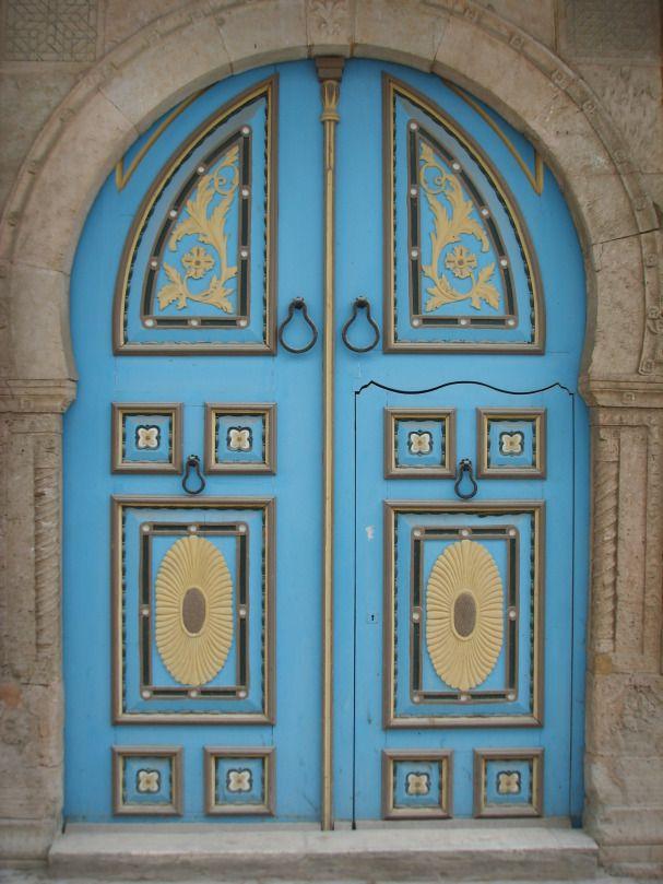 Porte de sidi bou sa d tunisie tunisia pinterest for Decoration porte sidi bou said
