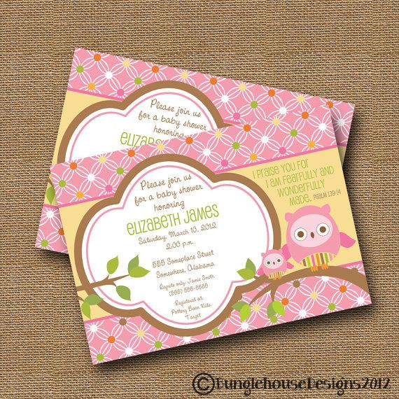 owl baby shower invitation diy printable baby girl christian scriptur