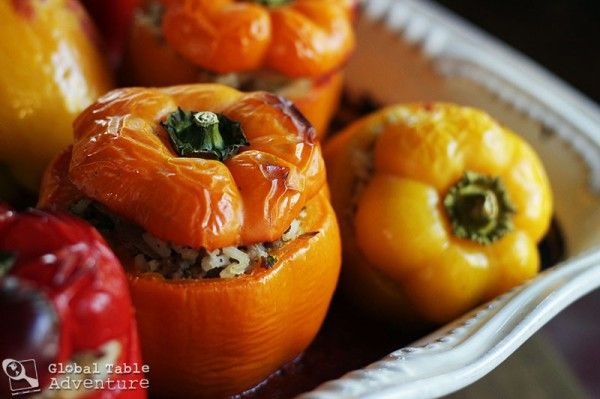 Beef & Sausage Stuffed Peppers | Recipe