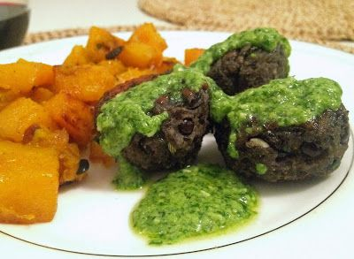 Lentil Meatballs with Lemon Pesto | Meatballs | Pinterest