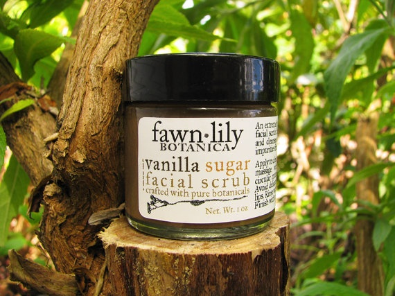 Vanilla Bean & Sugar Facial Scrub. Ingredients: organic raw Sugar ...