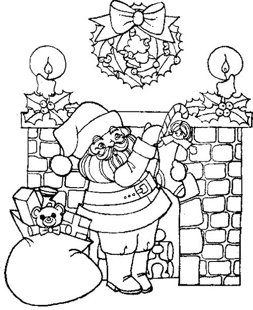 fireplaces coloring pages - photo#22
