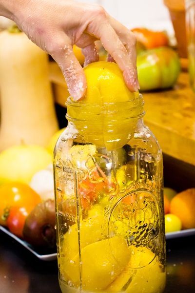 Salt preserved Meyer's Lemons! Can't wait to try this.