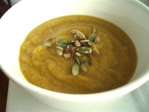 Pumpkin Acorn Squash Soup - quinoa, kale & exhale