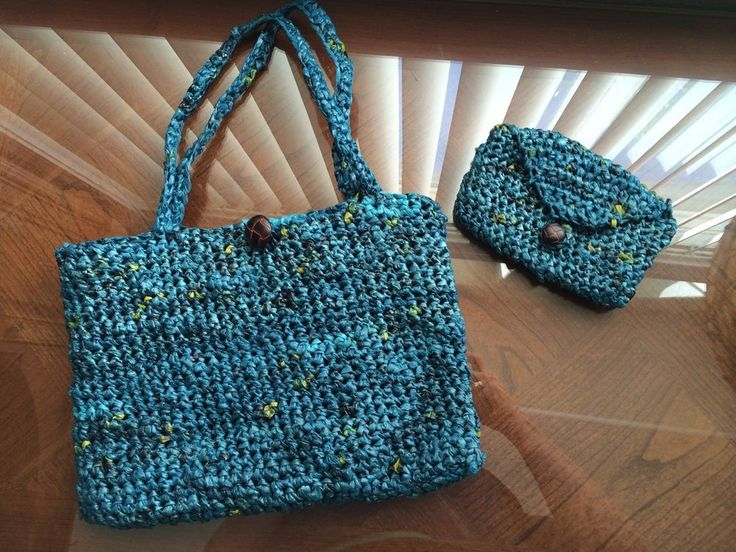 Grocery Bag Crochet : Plastic Grocery Shopping Tote Bag Crochet: Matching purse/ tote ...