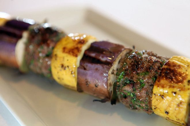 Ground Lamb, Eggplant and Squash Kebabs - It may still be winter, but ...