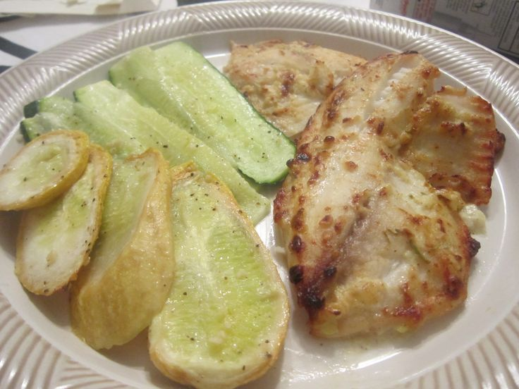 Tilapia broiled with spiced mayonaise. | Fish | Pinterest