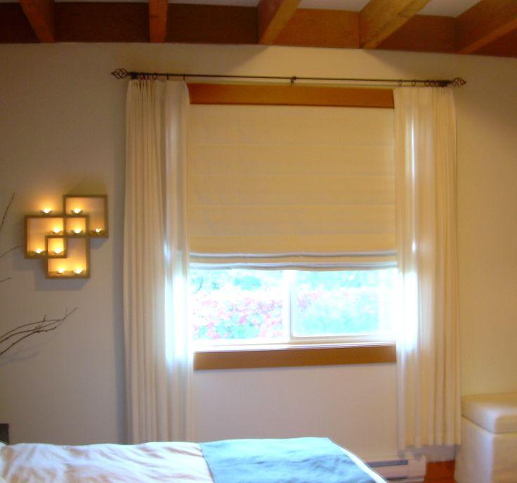 Layered window treatments - examples | Roman Shade Inspiration | Pint ...