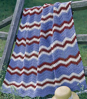 Baby Boy Chevron Blanket Knitting Pattern | Red Heart