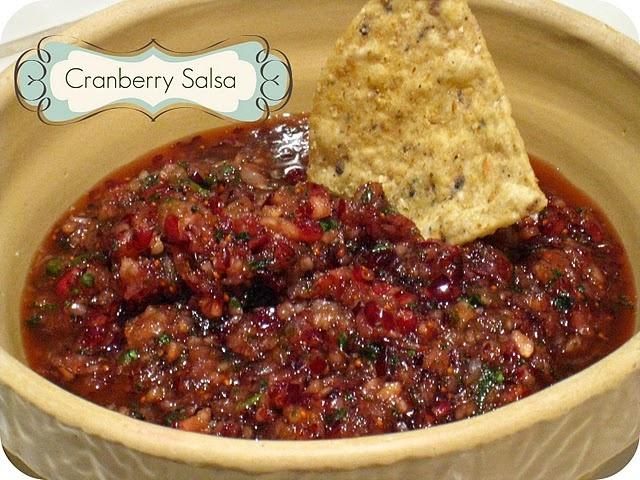 Cranberry salsa! Cranberry Salsa 1 bag of fresh cranberries 1 bunch of ...