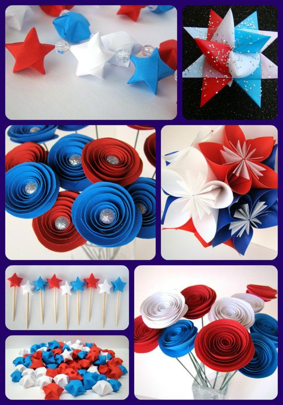 Patriotic party set red white and blue party decorations - Red white and blue party ideas ...