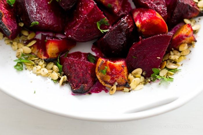 Ginger-Citrus-Maple Roasted Beets + Apples with Pumpkin Seeds by ...