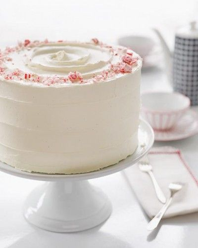 Chocolate Peppermint Cake - A decedent three layer chocolate cake with ...