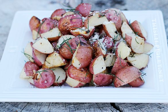 Garlic Herb Grilled Potatoes | Recipe