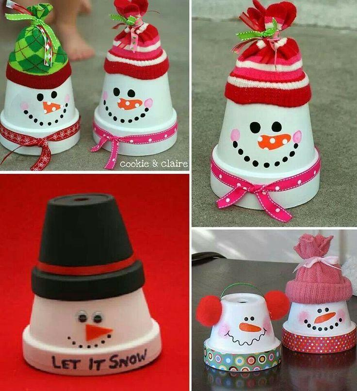Upside down flower pots | Christmas Craft Items | Pinterest