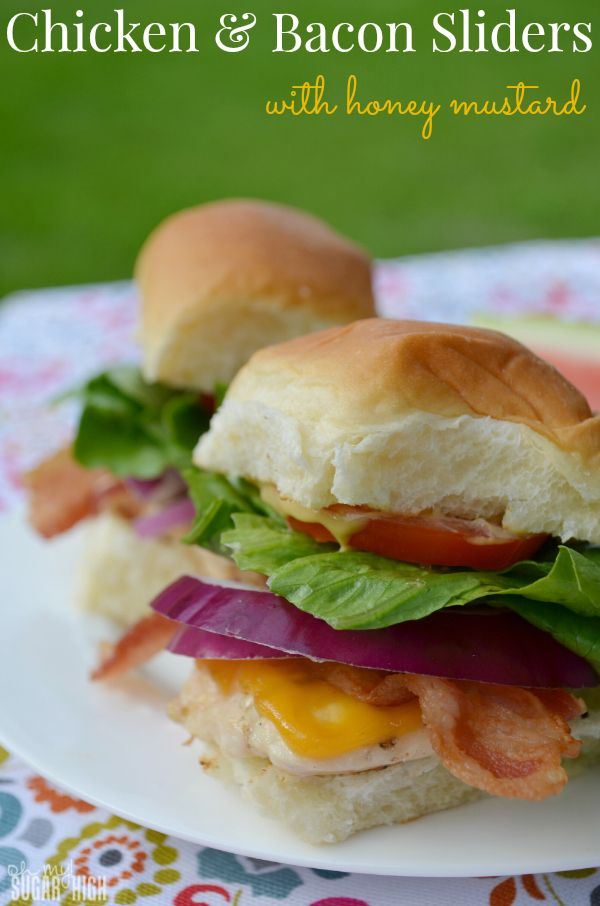 Chicken & Bacon Sliders with Honey Mustard: This grilled slider is ...