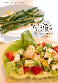 shrimp avocado lettuce wraps | Deliciousness | Pinterest