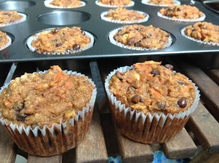 Coconut Flour Banana, Carrot, Chocolate Chip Muffins #TheCafeWellness