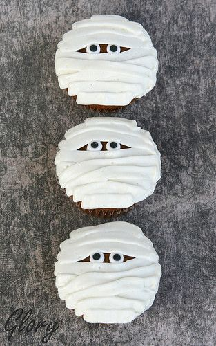 Mummy cupcakes | Pinterest Creations Completed | Pinterest
