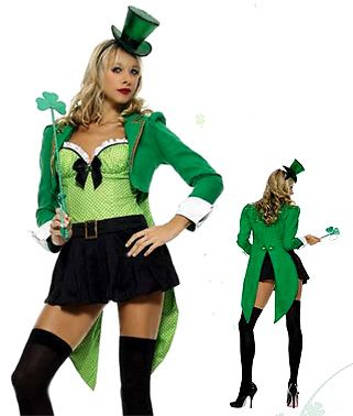 4 clovers and leprechaun costumes with tutu