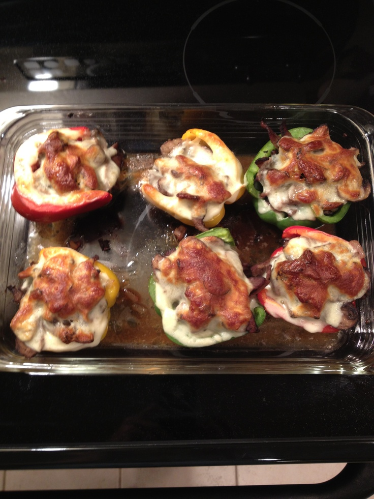 ... you stuffed peppers stuffed zucchini with brown beef and rice stuffed