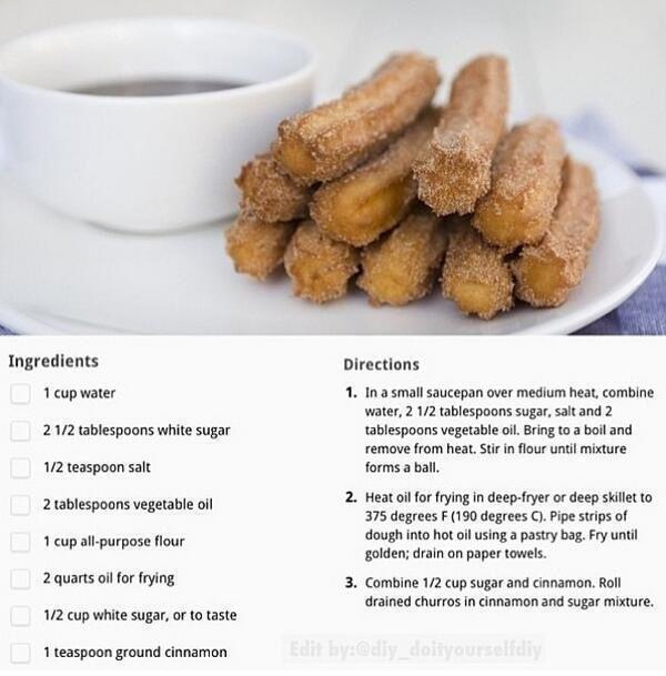 CHURRO!!!!! | Delish Desserts | Pinterest