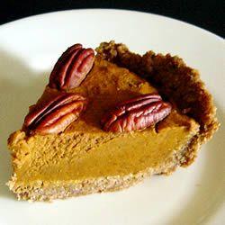 Pumpkin Tart With Pecan Crust Recipe | Time for Dessert! | Pinterest
