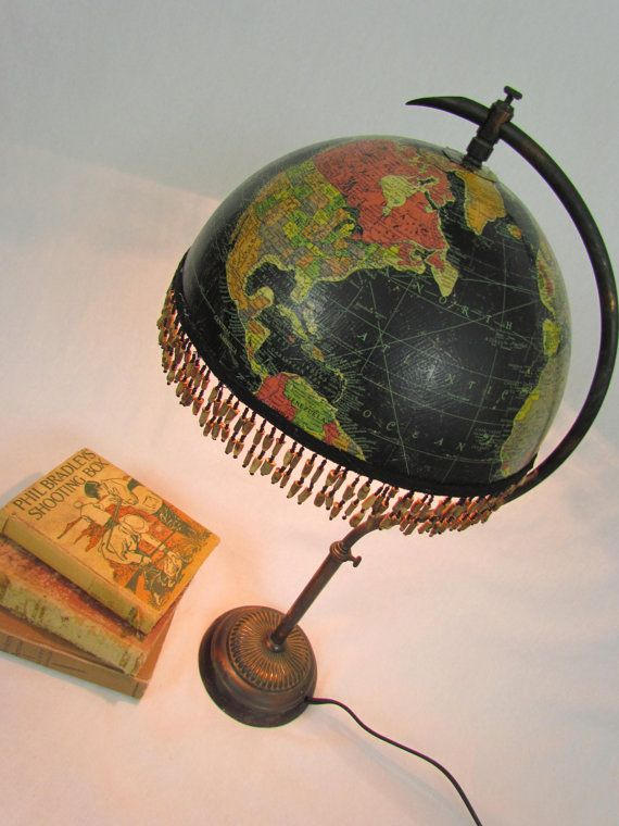 vintage globe table lamp