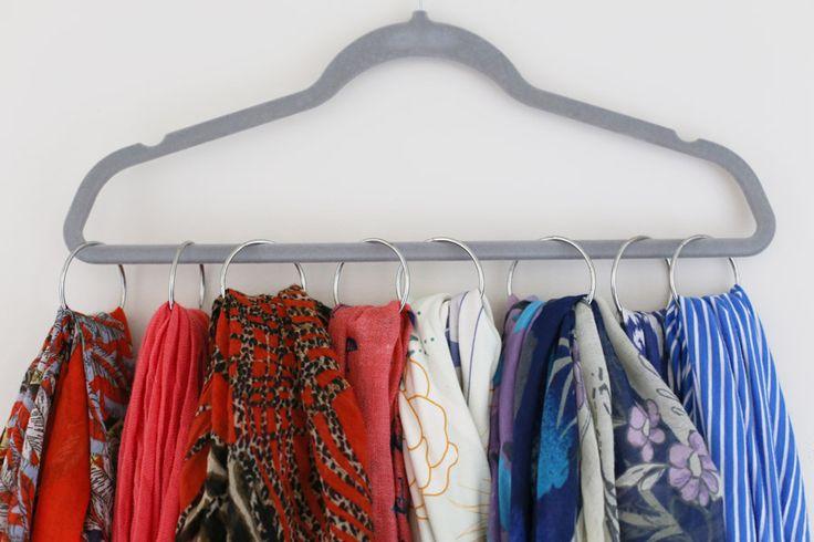 closet organizing ideas how to organize scarves