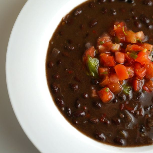 Vegan crock pot black bean soup (Great idea to put in pressure cooker ...